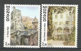 MONACO ANNEE 1990 N° 1708 1709 NEUFS** NMH - Monaco