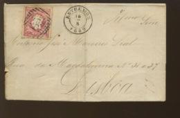 ESTREMOZ 1869 Belle Calligraphie Sur Document Plié - 1862-1884 : D.Luiz I