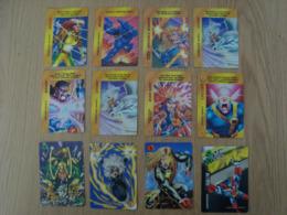 LOT DE 9 CARTES OVERPOWER CARDGAME MARVEL 1995 - Marvel
