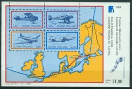 Bm Finland 1988 MiNr Block 4 (1053-1056) Sheet MNH | Finlandia 88 International Stamp Exhibition, Helsinki - Finland
