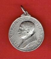 MEDAILLE 1950 METAL PAPE PIE XII 1876 1958 GRAVEUR MISTRUZZI - Religion & Esotérisme