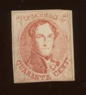 40c Neuf Joli N°. 12.  Cote 3100,-€ Sans Gomme, Premier Choix - 1858-1862 Medallions (9/12)