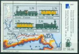 Bm Finland 1987 MiNr Block 3 (1017-1020) Sheet MNH | Finlandia 88 International Stamp Exhibition, Helsinki - Finland