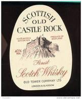 Etiquette Scotch  Whisky    -  Castle Rock  -  Ecosse - Whisky