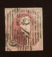 40c Joli N°. 8  Ø Cote 125,-€ Premier Choix, Marges Intactes - 1858-1862 Medallions (9/12)