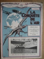 LA CONQUETE DE L'AIR 1932 N°12 - RENARD R. 31 - F.N. 8 Cyl. - GRAF-ZEPPELIN-PHOTO DU KATANGA-FOKKER F. VII-HEINKEL 64 - AeroAirplanes