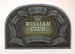Etiquette De   Whisky  -  William Club  -  William Pitters Lormont  (33) - Whisky