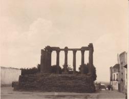 EVORA PORTUGAL  Temple De Diane Photo Amateur 1932 Format Environ 7,5 Cm Sur 5,5 Cm - Lugares