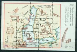 Bm Finland 1985 MiNr Block 1 (973-976) Sheet MNH | Finlandia 88 International Stamp Exhibition, Helsinki - Finland