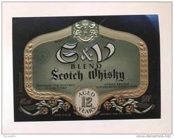 Etiquette De Scotch  Whisky  -  E & V -   Ecosse - Whisky