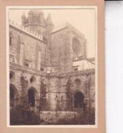 EVORA PORTUGAL  Cloître De La Cathédrale Photo Amateur 1932 Format Environ 7,5 Cm Sur 5,5 Cm - Lugares
