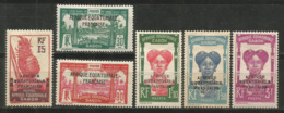 GABON YVERT NUM. 116/120 * SERIE COMPLETA CON FIJASELLOS - Gabon (1886-1936)