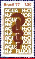 Ref. BR-1516 BRAZIL 1977 HEALTH, 3RD INTL. ODONTOLOGY, CONGRESS, DENTISTRY, MI# 1607, MNH 1V Sc# 1516 - Berufe