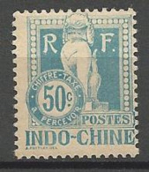 INDOCHINE TAXE  N° 13 NEUF*  TRACE DE  CHARNIERE TB  / MH / - Timbres-taxe