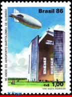 Ref. BR-2094 BRAZIL 1986 PLANES, AVIATION, BARTOLOMEU DE GUSMAO, AIRPORT, ZEPPELIN, MNH 1V Sc# 2094 - Ungebraucht