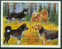 Bm Finland 1989 MiNr Block 5 (1078-1081) Sheet MNH | Centenary Of Finnish Kennel Club - Finland