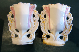 Paire De Vases De Mariée - Ceramica & Terraglie