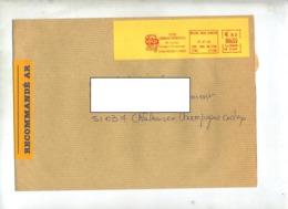 Lettre Recommandée Flamme Ema Reims Lycee Clemenceau - Marcophilie (Lettres)