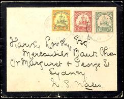 1901, Neu Guinea Zweiglinie (Singapore) A, Klar Auf Brief Mit 5 Pfg, 10 Pfg Und 25 Pfg Kaiseryacht, Nach Sydney In New S - Briefmarken