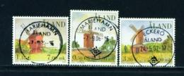 ALAND  -  2001 Windmills Set Used As Scan - Aland