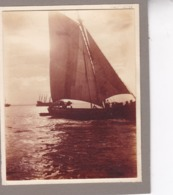 LISBONNE PORTUGAL Le Port Bateaux 1932 Le Tage Photo Amateur Format Environ 7,5 Cm X 5,5 Cm - Lugares