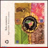 Ref. BR-2717 BRAZIL 1999 ANIMALS, FAUNA, FOREST FIRE PREVENTION,, STAMP AROMATIC, UNUSUAL, MI#2946-49,MNH 4V Sc# 2717 - Brasile