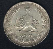 Iran, 10 Rials SH 1324 (=1945), Silber, Qualität! - Iran