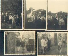 Promesse Scoute Du PRINCE BAUDOUIN (1943) – Lot De 9 Photos (RARE) - Scoutisme