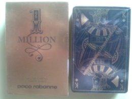1 MILLION. Paco Rabanne. Jeu De 52 Cartes + 2 Jokers. Dans Sa Boite Carton Dorée - Cartes à Jouer Classiques