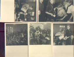 Fête AEP Avec Participation Scoute Et Service Assuré Par Le PRINCE BAUDOUIN (1943) – Lot De 5 Photos-cartes Postales - Scoutisme