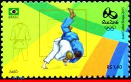 Ref. BR-3318F BRAZIL 2015 SPORTS, OLYMPIC GAMES, RIO 2016,, JUDO, STAMP OF 4TH SHEET, MNH 1V Sc# 3318F - Judo