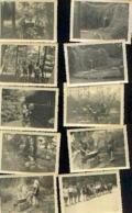 Camp Scout Avec La Participation Du PRINCE BAUDOUIN (1943) – Lot De 20 Photos (RARE) - Scoutisme