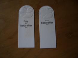 Carte Franck Olivier (2 Différentes) - Perfume Cards