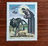 SALVADOR, Canidés, LOUP, 1 Valeur Emise  En 1982. ** Neuf Sans Charniere. MNH - Otros