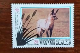 MANAMA, Canidés, Canidé, Fennec Hyene, 1 Valeur Neuve. MNH, ** - Francobolli