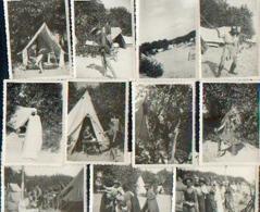Camp Scout Vers 1943 – Lot De 11 Photos (à Identifier) - Scoutisme