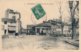 I153 - 01 - MONTLUEL - Ain - La Rue De La Gare - Montluel