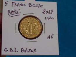 5 FRANCS  B.C.E.A.O  2018 Neuve Unc ( Livrée Sous étui H B - 4 Photos ) - Benin