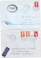 LOT 2 LETTRES BPM 651 GUERRE EX YOUGOSLAVIE - FFA - 1993 ET 94 BRIAT - COMTRANS FORPRONU UNPROFOR UNITED NATIONS - Postmark Collection (Covers)