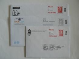 Postréponse Prio 20g, 2 Enveloppes Marianne L'engagée Prio, Et Une Ciappa-Kavena Eco,TB. - Entiers Postaux