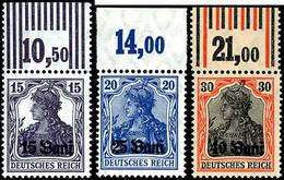 15 Bani Bis 40 Bani Ohne Zusätzlichen Kastenaufdruck, Kpl. Satz Einheitlich Vom Oberrand, 15 Und 30 Pf. Mit Walzenoberra - Roemenië