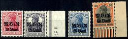 10 B. Auf 10 Pfg Bis 40 B. Auf 40 Pfg Germania, Kompletter Satz Mit 4 Werten, Tadellos Postfrisch, Mi. 70.-, Katalog: 4/ - Roemenië