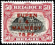 """75 Pfennig Auf 50 Centimes, Gezähnt 15:15, Postfrisch, Fotobefund Dr. Hoffner BPP """"echt, Einwandfrei"""", Mi.300,-, Katalog - Eupen Und Malmedy"""