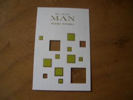 Carte Bulgari Man Wood Neroli - Perfume Cards