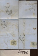 Deux Lettres Avec Le 10c. N°17 - 1865-1866 Perfil Izquierdo