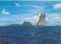 Polynésie Française- La Goëlette ADIX  à L'extérieur De Bora Bora (bateau)(photo  Erwin Christian Tahiti 485 @ - Polynésie Française
