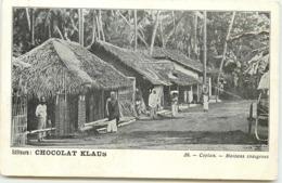 CEYLAN MAISONS INDIGENES EDITEURS CHOCOLAT KLAUS - Sri Lanka (Ceylon)