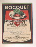Etiquette  D' Assaisonnement Pour Salade  -  Bocquet  à  Yvetot  (76) - Labels