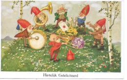 Gnome, Gnom, Kobold, Lutin, Zwerg, Orchestra, Harmonica, Instruments, Orchester, Mundharmonika - Birthday