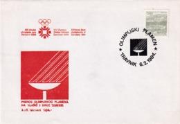 Yugoslavia 1984 Cover: Winter Olympic Games Sarajevo; Torch Relay; Travnik Station; Olympic Couldron - Winter 1984: Sarajevo